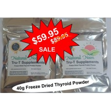 Natural Desiccated Thyroid Powder - Freeze Dried - 40g